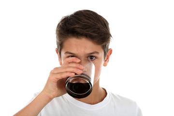 Junge mit Softdrink