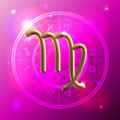 Zodiac Virgo golden sign