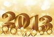 New 2013 golden year, vector illustration