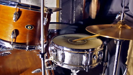 Drumer  in close up