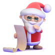 Santa has a big list of good children at Christmas