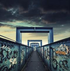 iron foot bridge