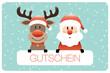 Gutschein Rudolph & Santa Retro