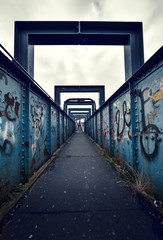 foot bridge graffiti