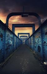 dark foot bridge