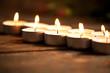 Kerzen in Reihe