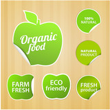 Set of eco natural labels.