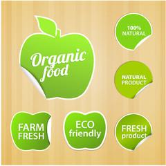 Set of eco natural labels.