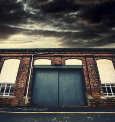 gloomy warehouse