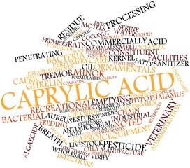 Word cloud for Caprylic acid