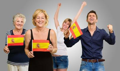Happy Spanish Family Enjoying