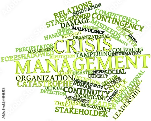 Word cloud for Crisis management
