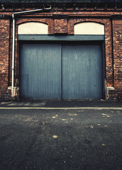 closed warehouse doors