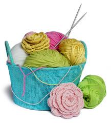 Fil et laine à tricoter