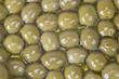 Textura de las aceitunas sin hueso cubiertas de aceite de oliva