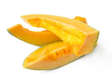 Slices of ripe pumpkins