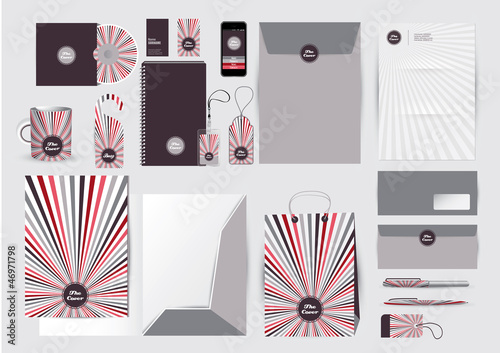 Great stationery design set