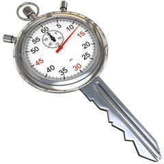 Schlüssel mit Uhr