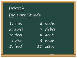Tableau: Deutsch, die erste Stunde