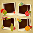 Scrap holiday vintage photo frames for Christmas and New Year