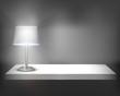 Lamp on shelf. Vector illustration.
