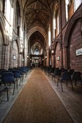 inside empty church