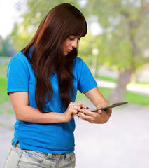 Woman Using Ipad