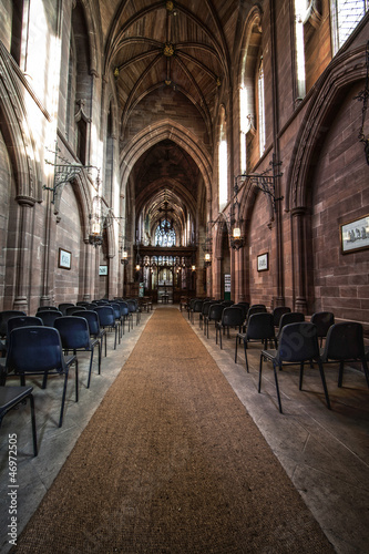 inside empty church