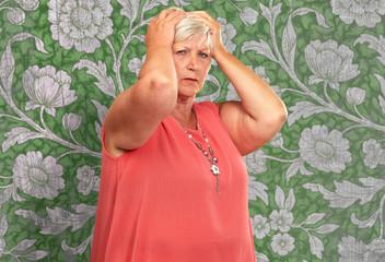 Portrait Of A Depressed Senior Woman