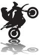 Extreme motobiker