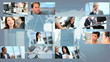 Montage Ethnic Business People With wireless Technology