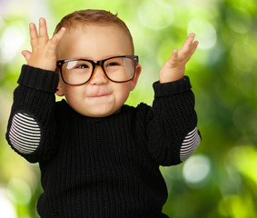 Happy Baby Boy Wearing Eye Glasses