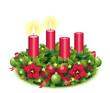 Zweiter Advent / Adventskranz freigestellt