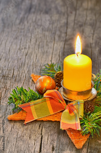 Candle and Christmas