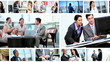 Montage of Multi Ethnic Business People