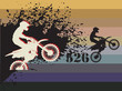 Motocross race background, vector illustration
