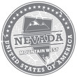 Stamp with text Nevada, Mountain West, vector