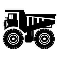 Dump truck icon, vector illustration