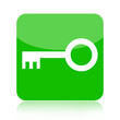 Green key icon isolated on white background