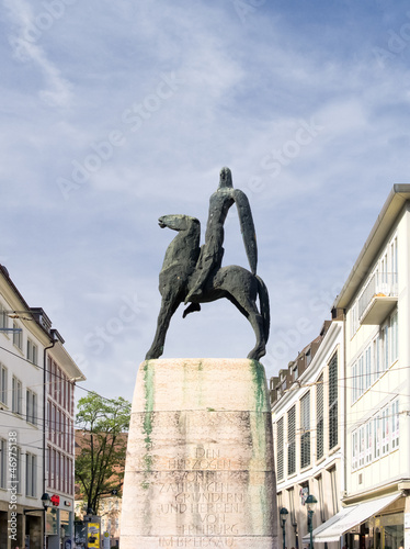 Leinwanddruck Bild Bertoldsbrunnen
