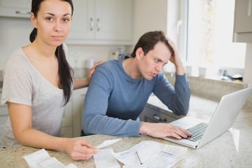 Couple focused on finances