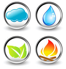 Vector symbols of four elements of nature