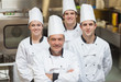Smiling team of Chef's