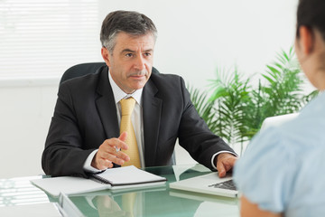 Businessman having a meeting