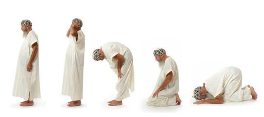 islam : les cinq positions de la prière