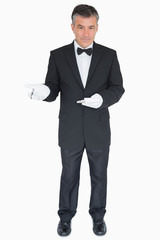 Waiter waiting for the order
