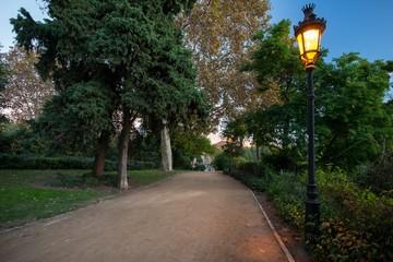 Beautiful park in Barcelona, Spain