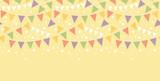 Fototapety Vector Birthday Decorations Bunting Horizontal Seamless Pattern
