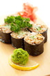 Maki Sushi - Roll with Brown Rice and Green Lettuce inside