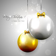 Luxury silver-gold Christmas background